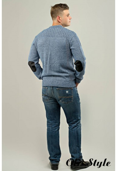 Мужской свитер Булат (синий) оптовая цена