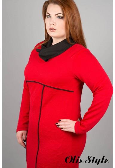 Платье Армель (красный)  оптовая цена