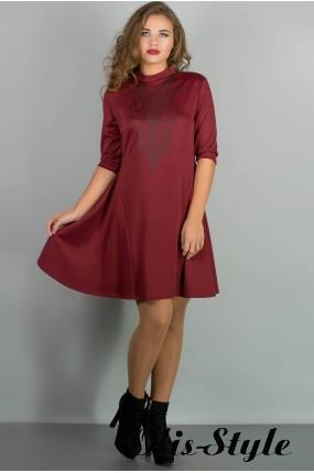 Платье Француаза (бордовый) Оптовая цена