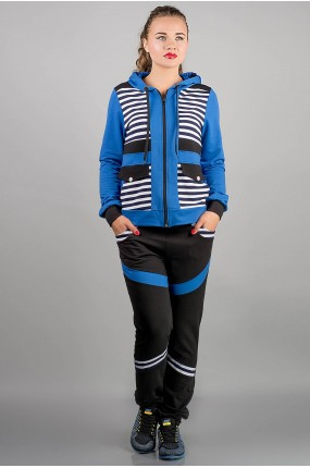 спортивный костюм Анжелика (электрик полоска)   Оптовая Цена
