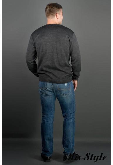 Мужской свитер Никки (черный) тонкий мысик оптовая цена