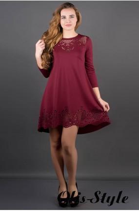 Платье Летисия (бордовый) Оптовая Цена