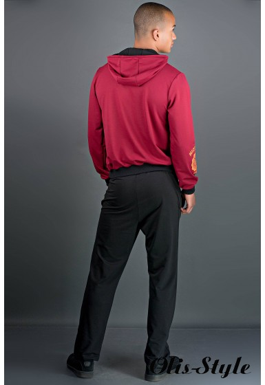 Мужской спортивный костюм Тотем (бордово-черный) Оптовая Цена