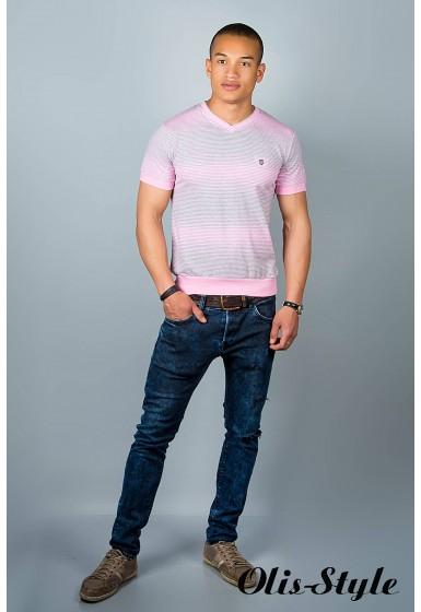 Мужская футболка (розовые полоски )   оптовая цена
