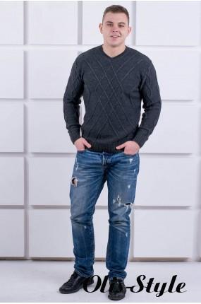 Мужской свитер Василий (черный) оптовая цена