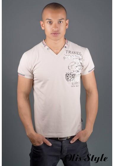 Мужская футболка Грэт (бежевый) оптовая цена