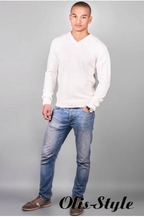 Мужской свитер (белый)   оптовая цена