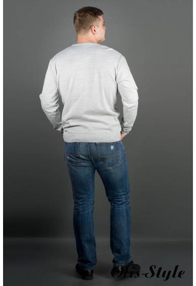 Мужской свитер Никки (светло-серый) тонкий мысик оптовая цена