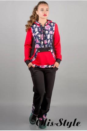 спортивный костюм Магнолия (красный цветы)   Оптовая Цена