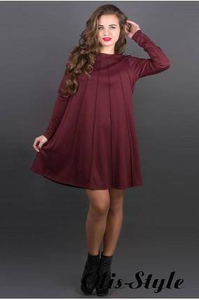 Платье Ситти (бордовый) Оптовая цена