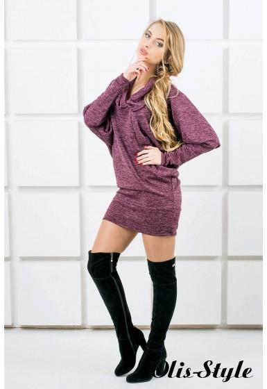Платье-туника Шерли (бордовый) оптовая цена
