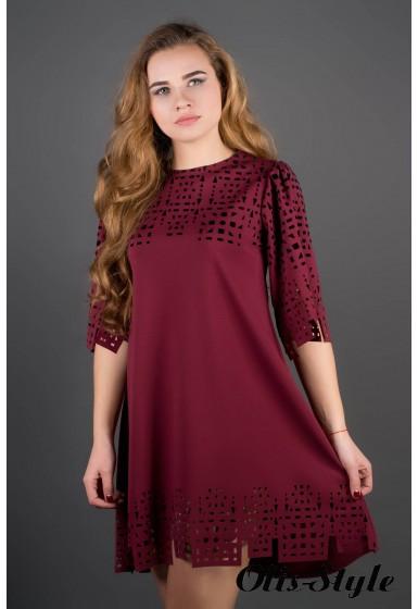 Платье Айви (бордовый) Оптовая Цена