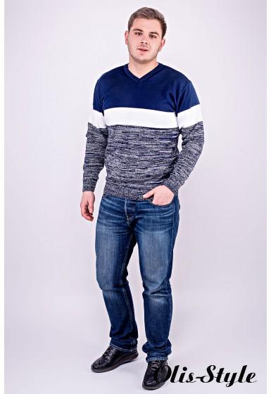 Мужской свитер Гена (синий) оптовая цена