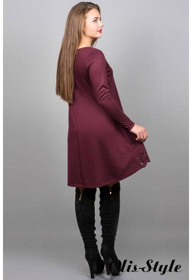 Платье Лучия (бордовый) Оптовая Цена