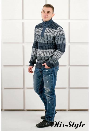 Мужской свитер Амадей планка (синий) оптовая цена