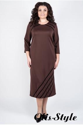 Платье Камелия (коричневый) Оптовая цена