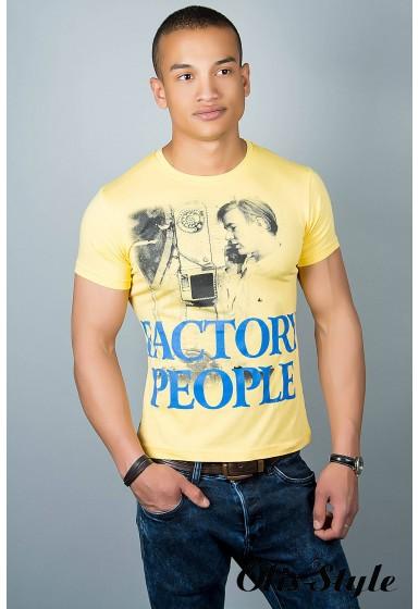 Мужская футболка (желтая №22)   оптовая цена