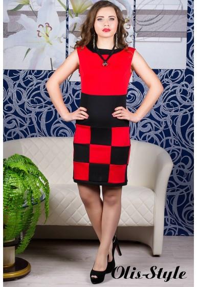 Платье Шахматка (коралл)    оптовая цена