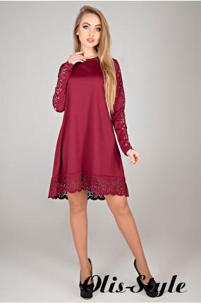 Платье Эрин (бордовый) Оптовая цена