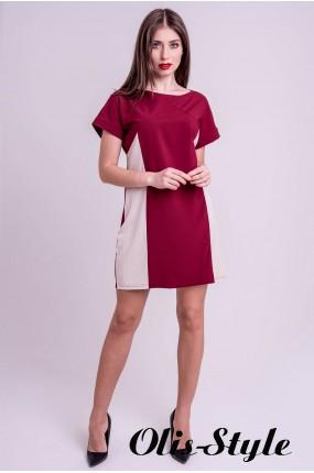 Платье Эвелина (бордовый) Оптовая цена