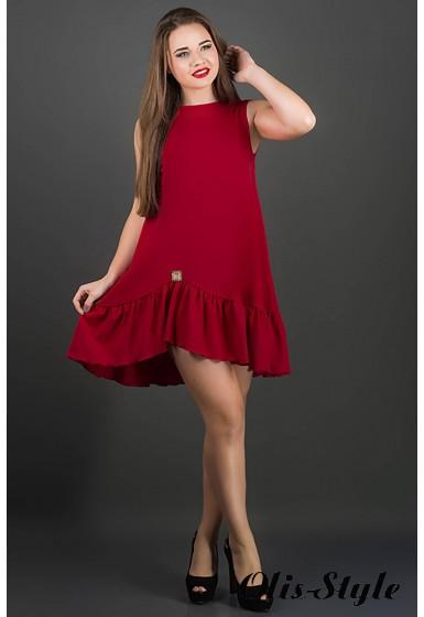 Платье Роми (бордовый)     оптовая цена