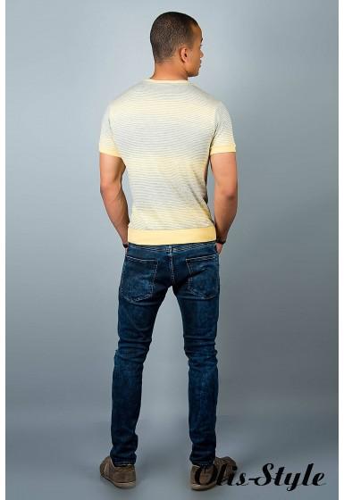 Мужская футболка (желтые полоски )   оптовая цена