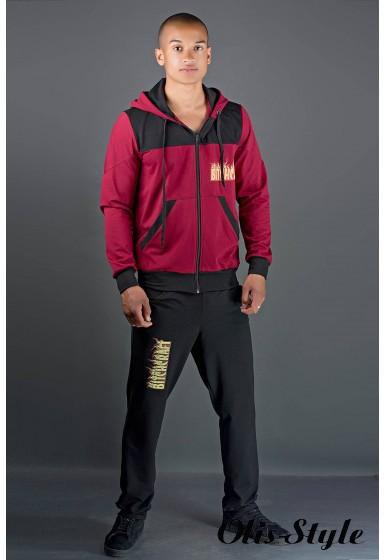 Мужской спортивный костюм Сэм (бордовый) Оптовая Цена