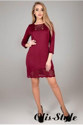 Платье Форина (бордовый) Оптовая цена