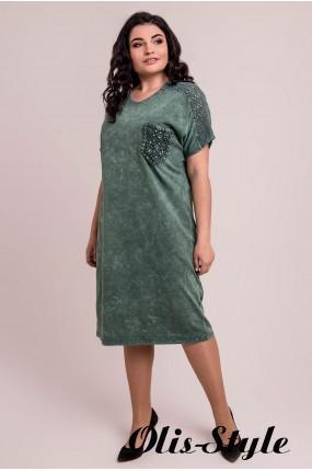 Платье Дина (зеленый)