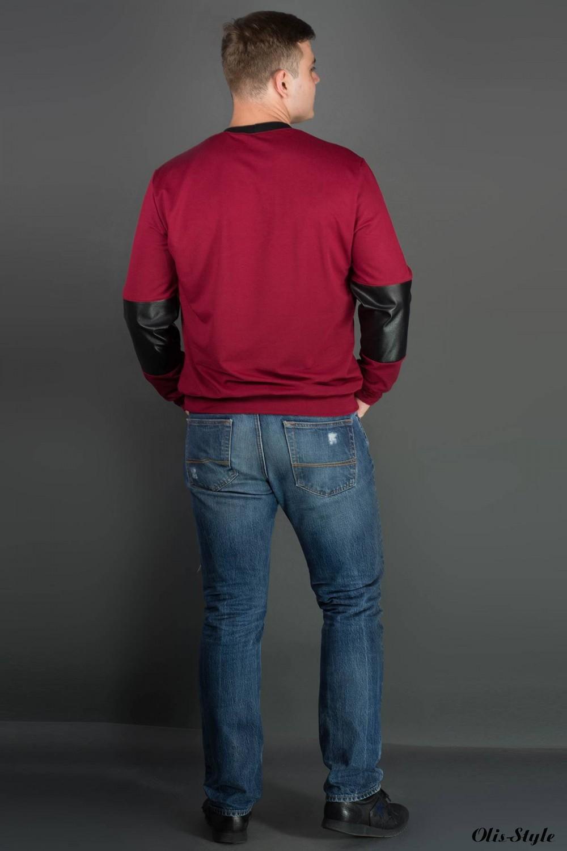 Мужская толстовка Эйстин (бордовый) оптовая цена
