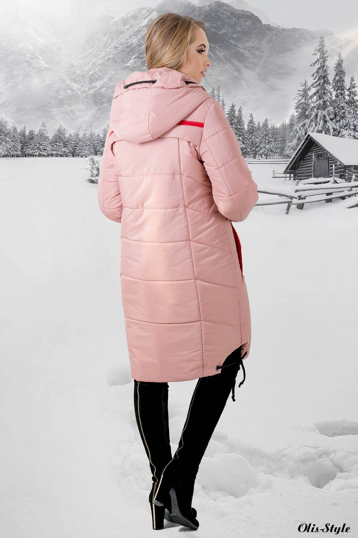 Зимняя куртка Лиана (розовый)  ОПТОВАЯ ЦЕНА