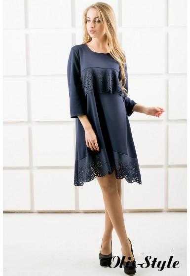 Платье Наир (синий) Оптовая цена