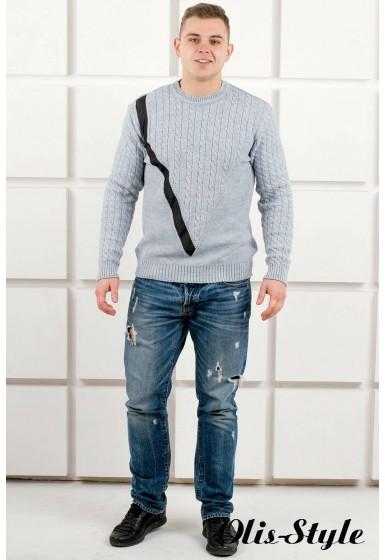 Мужской свитер Андрей (серый) оптовая цена