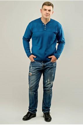 Мужской свитер Себостьян (голубой) оптовая цена