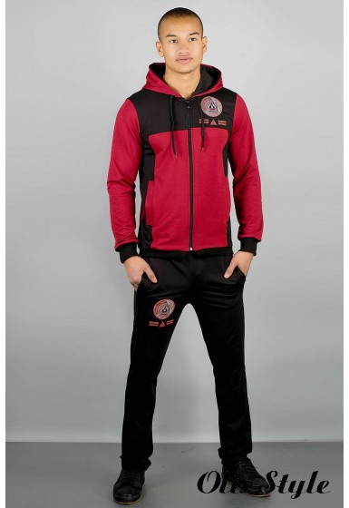 Мужской спортивный костюм Гранж (бордовый) Оптовая Цена