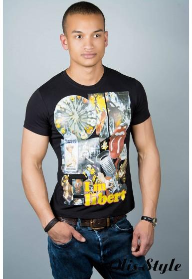 Мужская футболка (черная №31)   оптовая цена