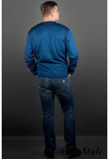 Мужской свитер Андерс (бирюза) оптовая цена