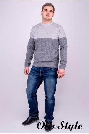 Мужской свитер Михаил (серый) оптовая цена