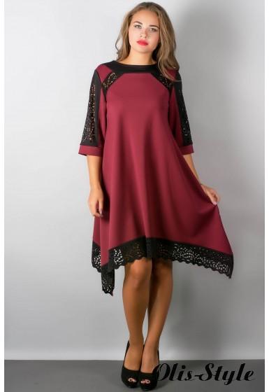 Платье Вайти (бордовый) Оптовая цена