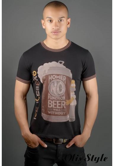 Мужская футболка Попей (черный) оптовая цена