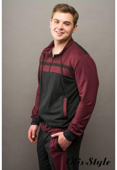 Мужской спортивный костюм Стивен (бордовый) Оптовая Цена
