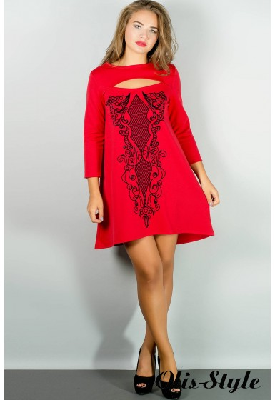 Платье Соланж (красный) Оптовая цена