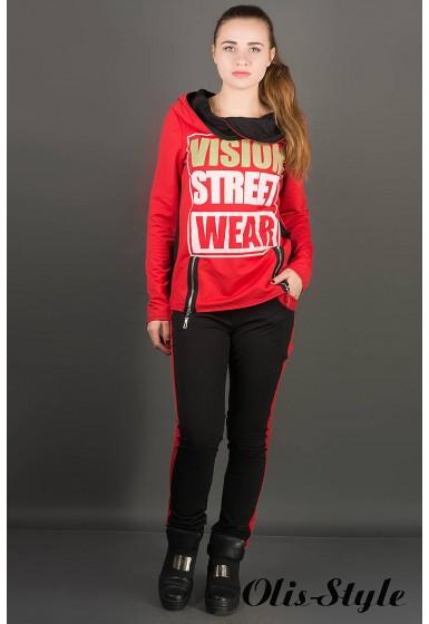 Спортивный костюм Наргиз (красный) Оптовая цена