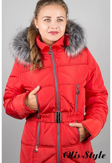 Зимняя куртка Дорри (красная серый мех)  ОПТОВАЯ ЦЕНА