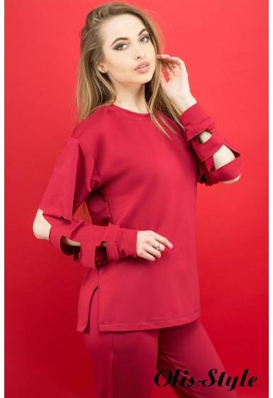 Спортивный костюм Блер (бордовый) Оптовая цена