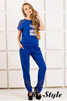 Спортивный костюм Канель (электрик) Оптовая цена