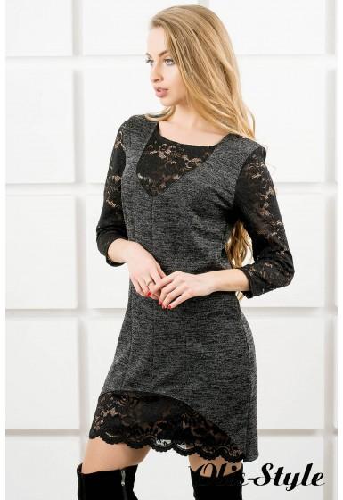 Платье Монита (черный) Оптовая цена