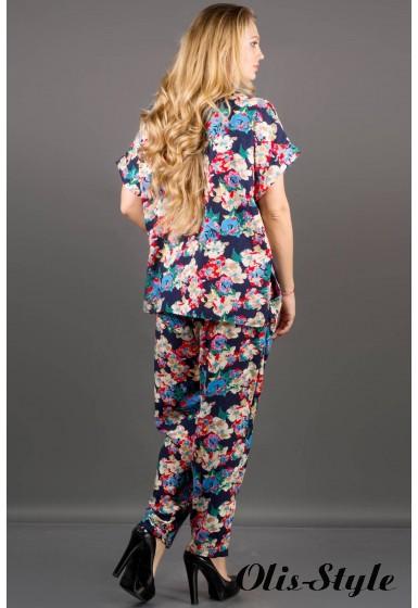 Костюм Блейзи (синий цветы)     оптовая цена