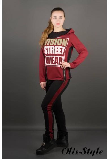Спортивный костюм Наргиз (бордовый) Оптовая цена