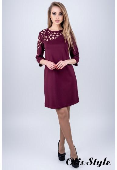 Платье Луиза (бордовый) Оптовая цена